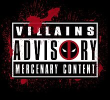 Villains Advisory by Soulkr