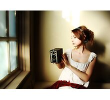 Learning to See (Self Portrait with Vintage Kodak Brownie) Photographic Print