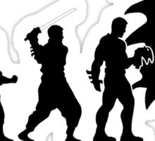 Evolution of Batman Sticker