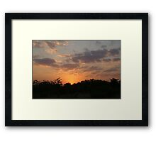 Sunset at Moremi - Botswana Framed Print