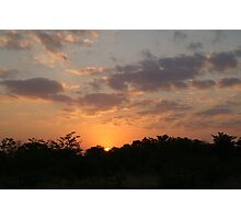 Sunset at Moremi - Botswana Photographic Print