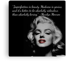 Marilyn Monroe Quote Canvas Print