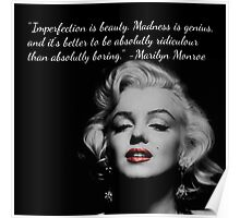 Marilyn Monroe Quote Poster
