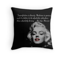 Marilyn Monroe Quote Throw Pillow