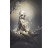 Moth Girl Photographic Print