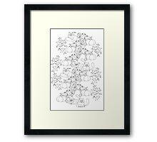 HALLOWEEN CATS IN PUMPKIN PATCH Framed Print