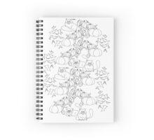 HALLOWEEN CATS IN PUMPKIN PATCH Spiral Notebook