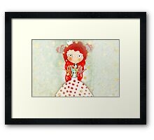 Red hair mushroom doll and company Framed Print