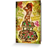 Collosal Buffday Greeting Card