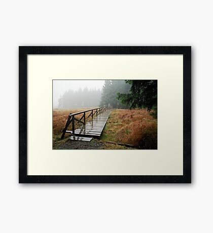 Rainy day in Siegmundsburg (Thuringia, Germany) Framed Print