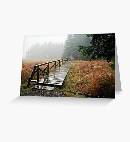 Rainy day in Siegmundsburg (Thuringia, Germany) Greeting Card