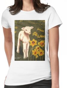 Little Lamb who made thee? Womens Fitted T-Shirt