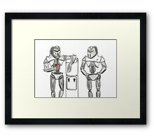 Cylon Centurions at the watercooler Framed Print