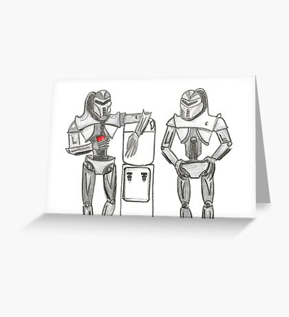 Cylon Centurions at the watercooler Greeting Card