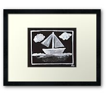 The Simpsons Inspired Sailboat Framed Print