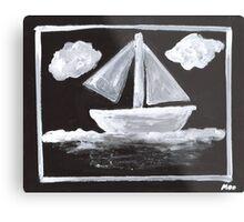 The Simpsons Inspired Sailboat Metal Print