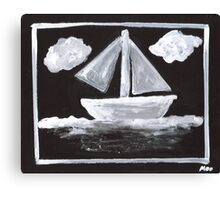 The Simpsons Inspired Sailboat Canvas Print