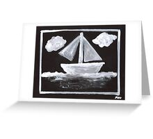 The Simpsons Inspired Sailboat Greeting Card