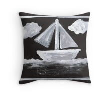 The Simpsons Inspired Sailboat Throw Pillow