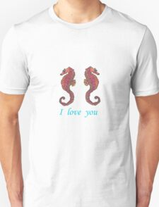 seahorse male-female 007 T-Shirt