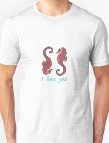 seahorse male female-009 T-Shirt