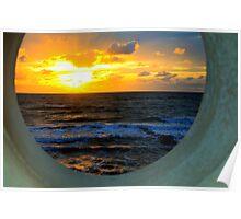 Framed Coastal Sunset Poster