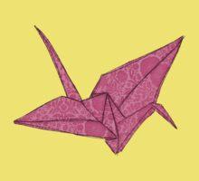 Pink crane One Piece - Short Sleeve