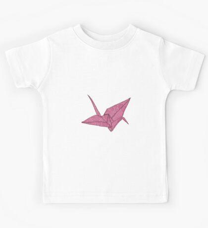 Pink crane Kids Tee