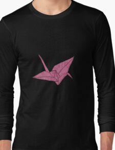 Pink crane Long Sleeve T-Shirt