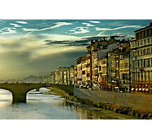 An Italian Sunset in Firenze Italy Photographic Print