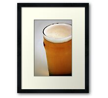Beer Pint Framed Print