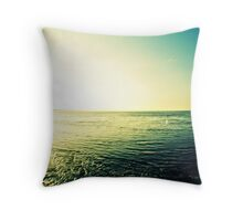 In the sea, keeping dry Throw Pillow