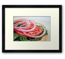 Onion, Tomato, Lettuce Framed Print