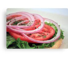 Onion, Tomato, Lettuce Canvas Print