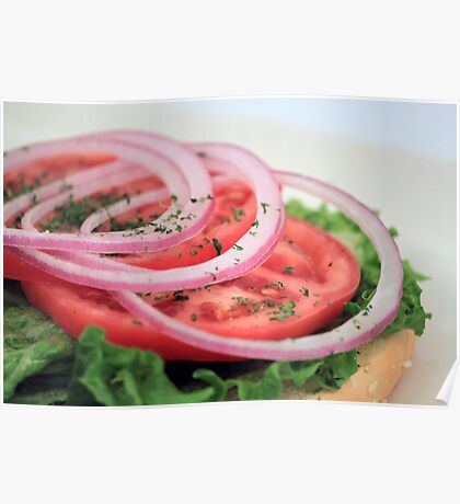 Onion, Tomato, Lettuce Poster