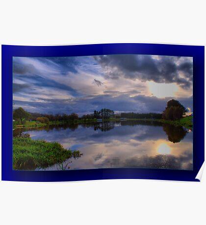 The Fishing Lake ~ Framed ~ Poster