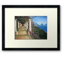 The Path to Capri Framed Print