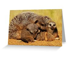Family Snuggles !  Greeting Card