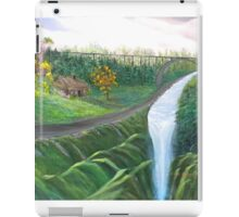 Country Back Road and River Waterfalls iPad Case/Skin
