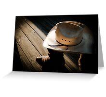 Shrunken Cowboy Greeting Card