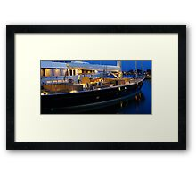 Finer Things In Life- Yacht Framed Print
