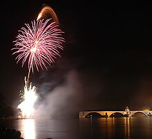 Fireworks on Avignon III by Joeblack