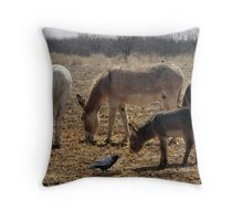 Donkey Spring Throw Pillow