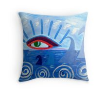 Keeping An Eye On The World Throw Pillow