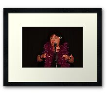 "Kehau performing in ""Three Stuffed Mums"" Framed Print"