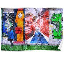Concrete Wall Graffiti Poster