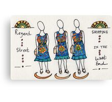 Regent Street Shopping in the West End Canvas Print