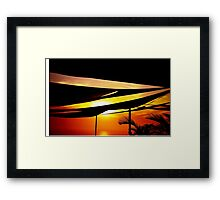 Golden Sunset Pacific Ocean Framed Print