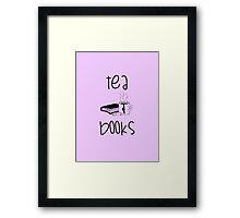 Tea & Books Framed Print