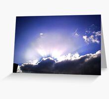 mar del plata's sunset Greeting Card